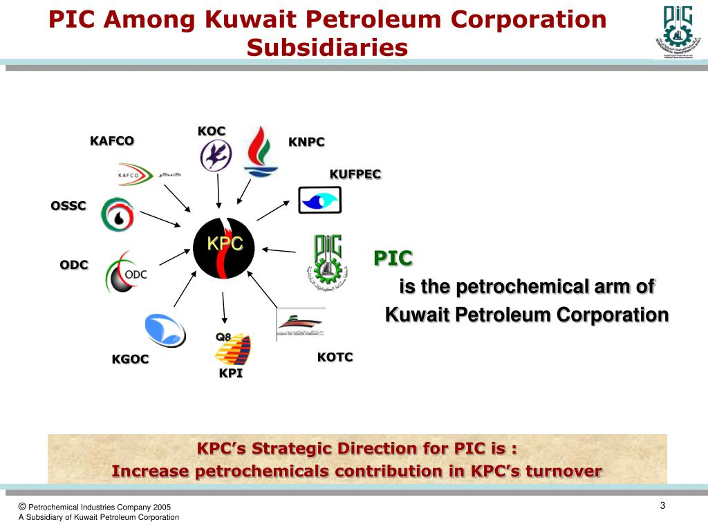 PIC Among Kuwait Petroleum Corporation Subsidiaries