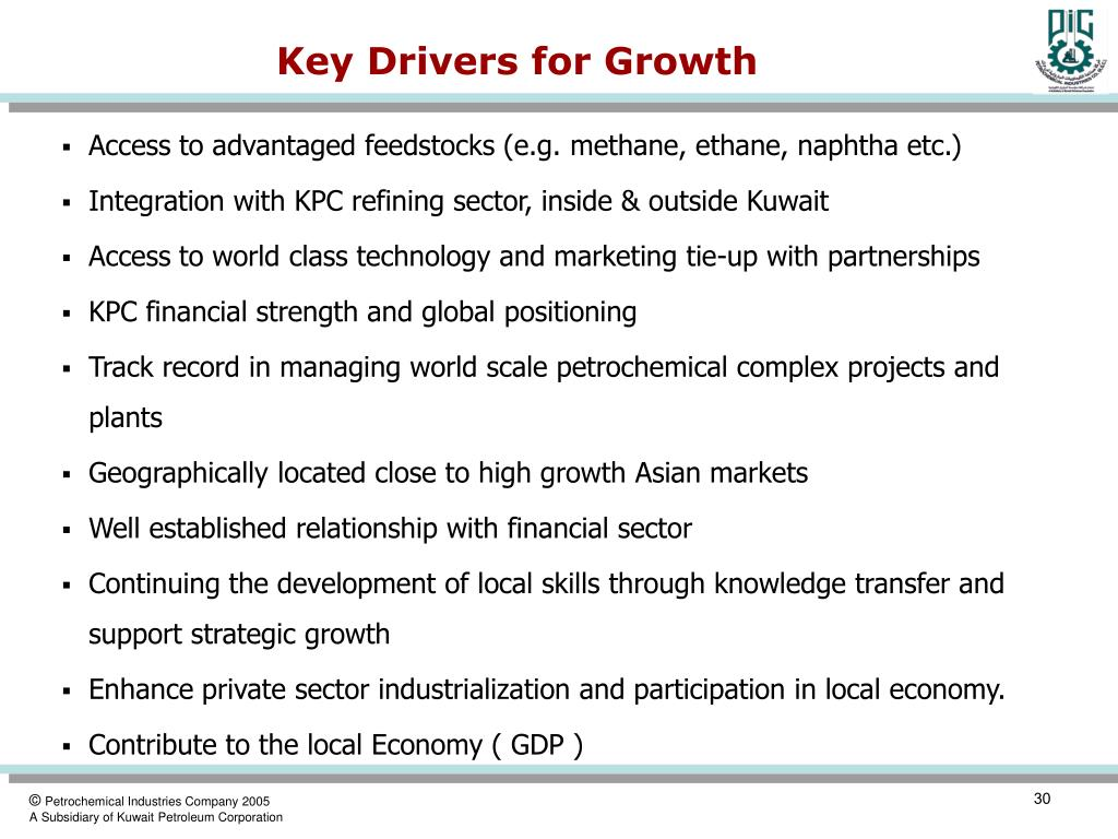 Key Drivers for Growth