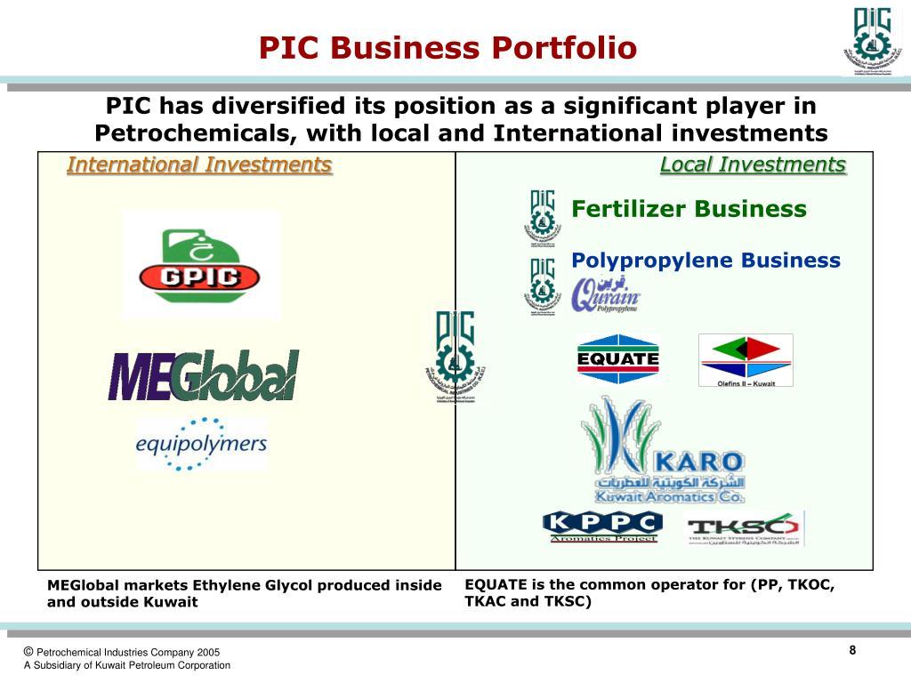 PIC Business Portfolio