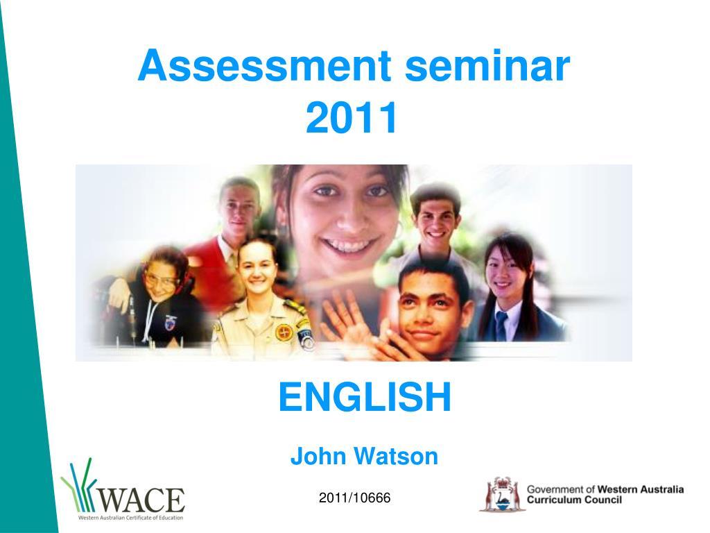 Assessment seminar