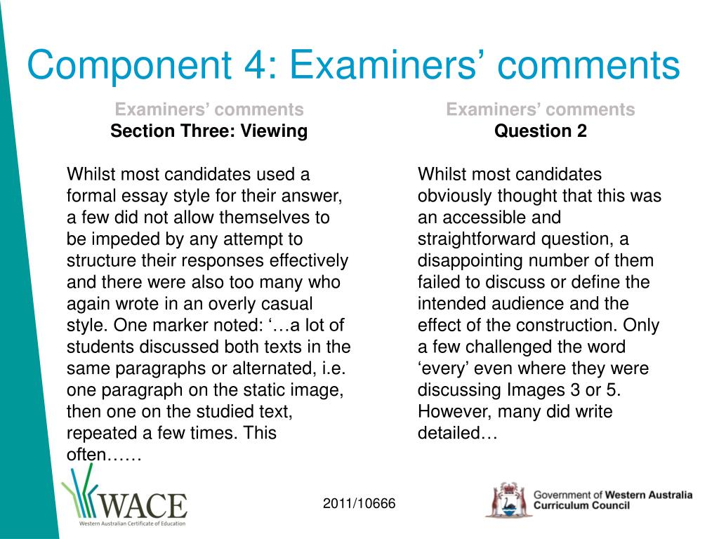 Component 4: Examiners