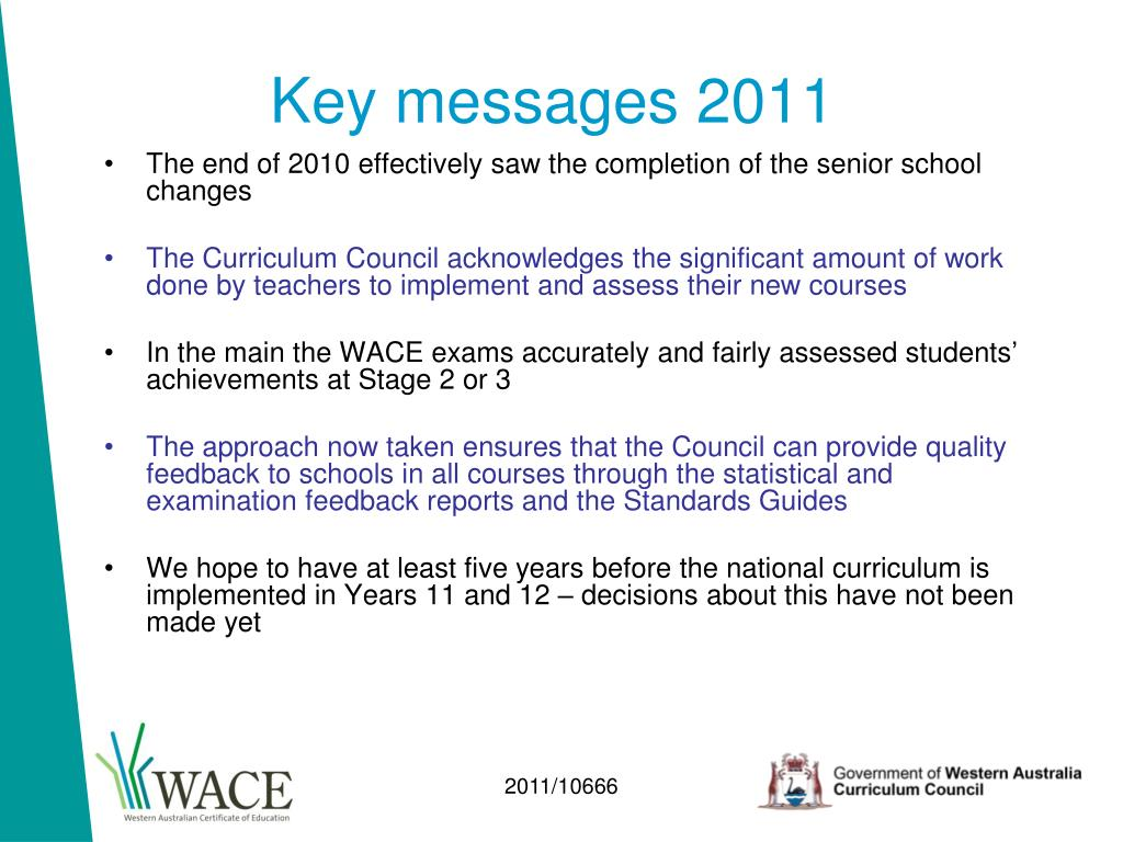 Key messages 2011