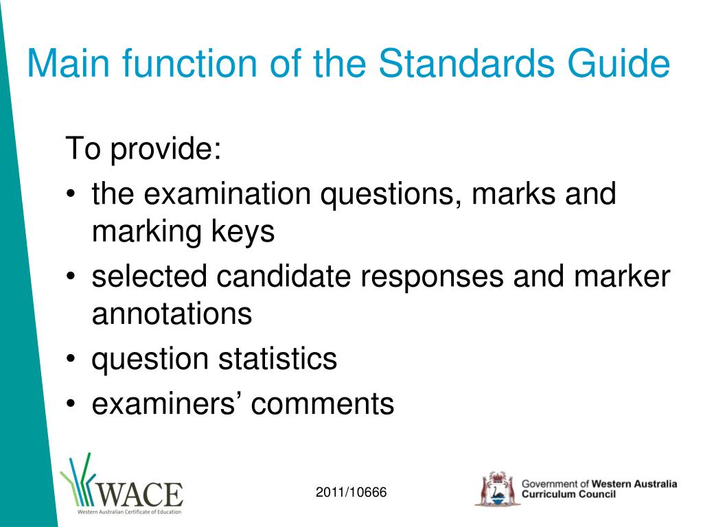 Main function of the Standards Guide