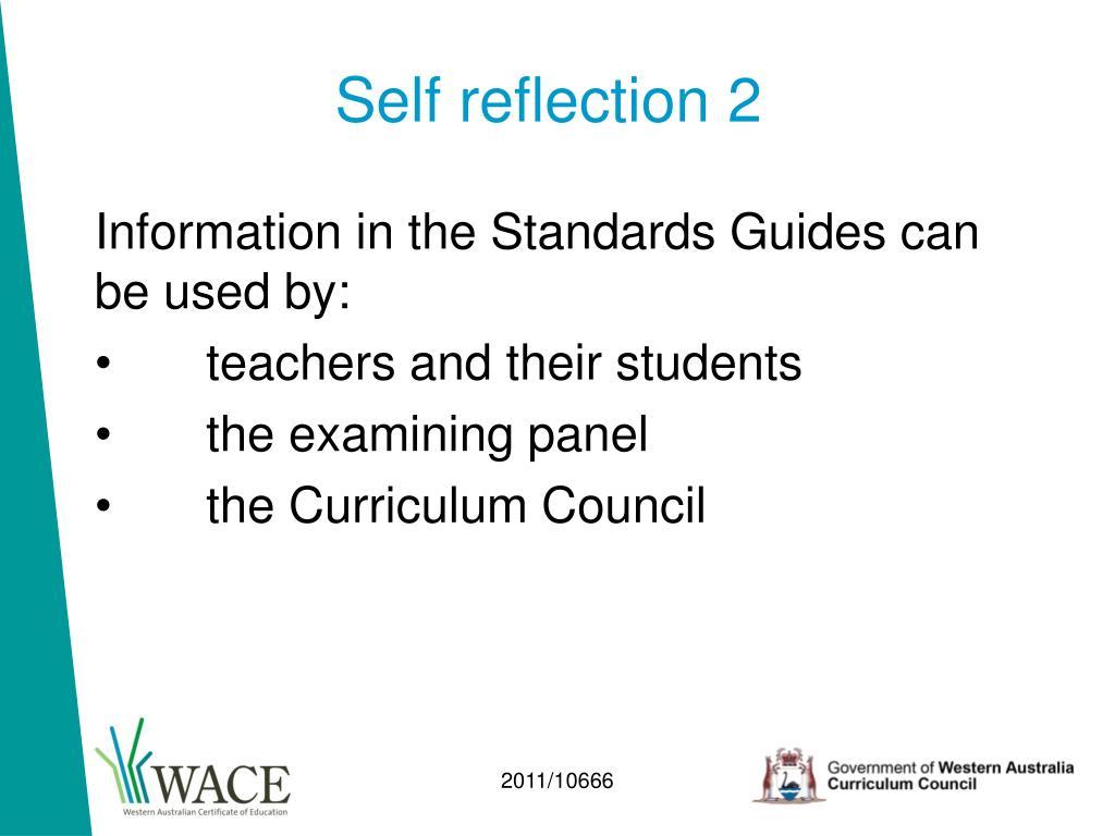 Self reflection 2