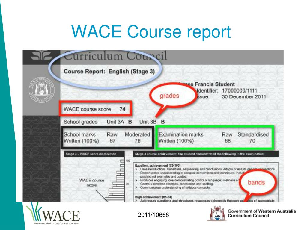 WACE Course report