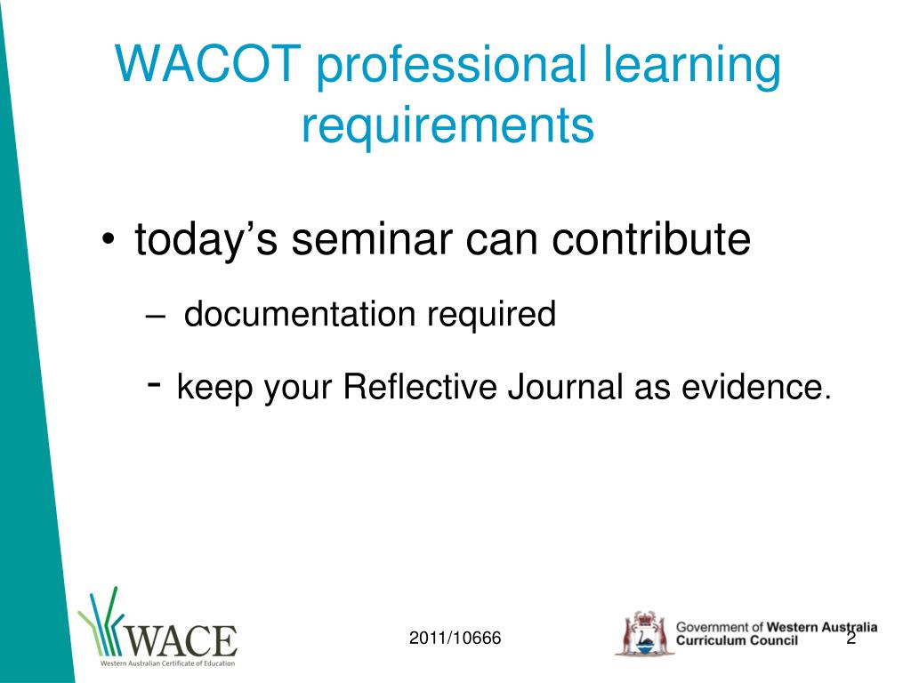 WACOT professional learning requirements