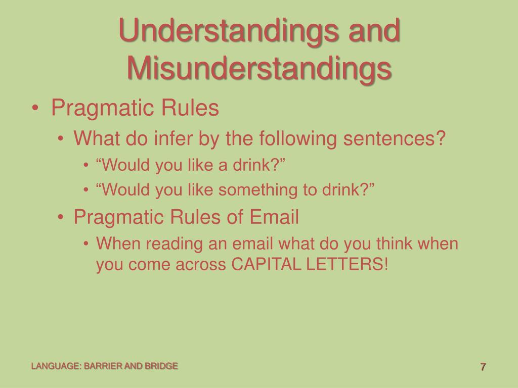 Understandings and Misunderstandings