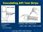 inoculating api test strips