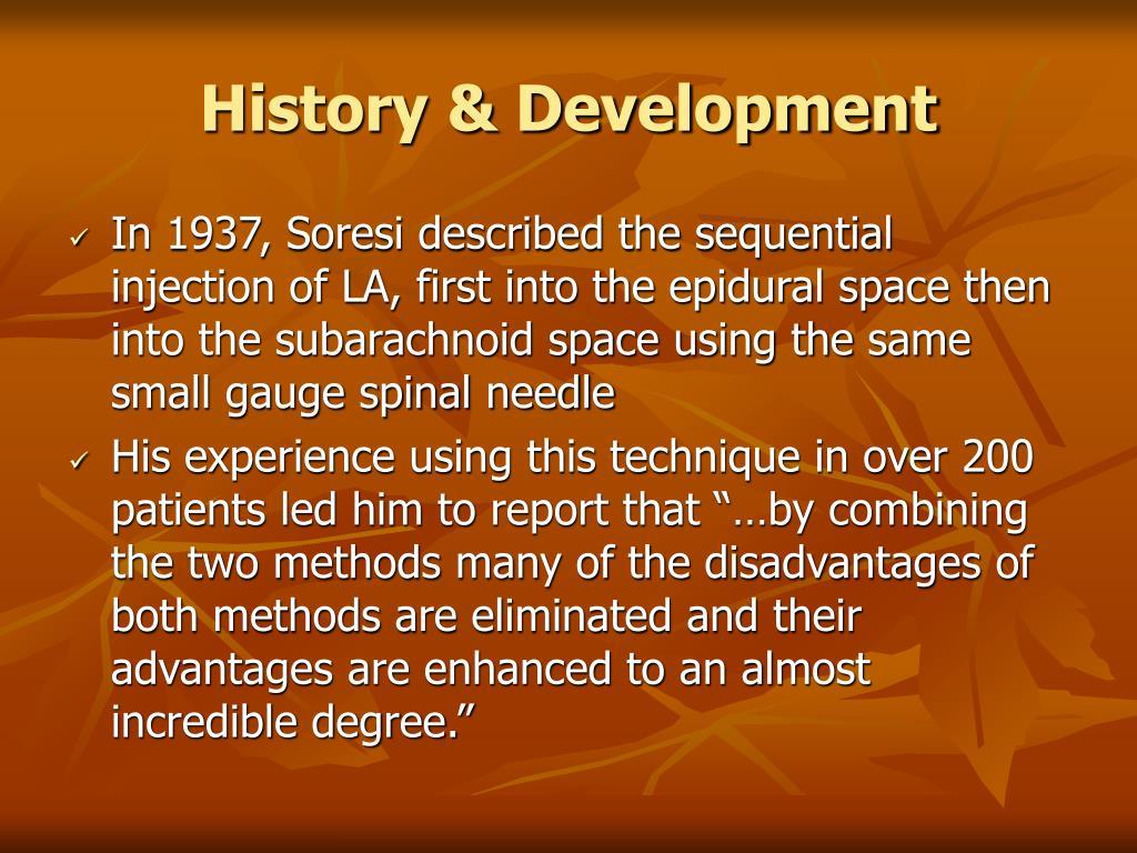 History & Development