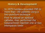 history development5