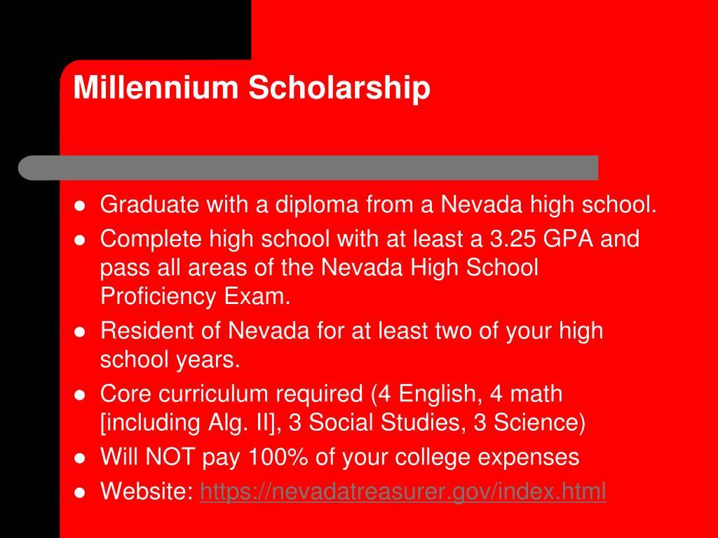Millennium Scholarship