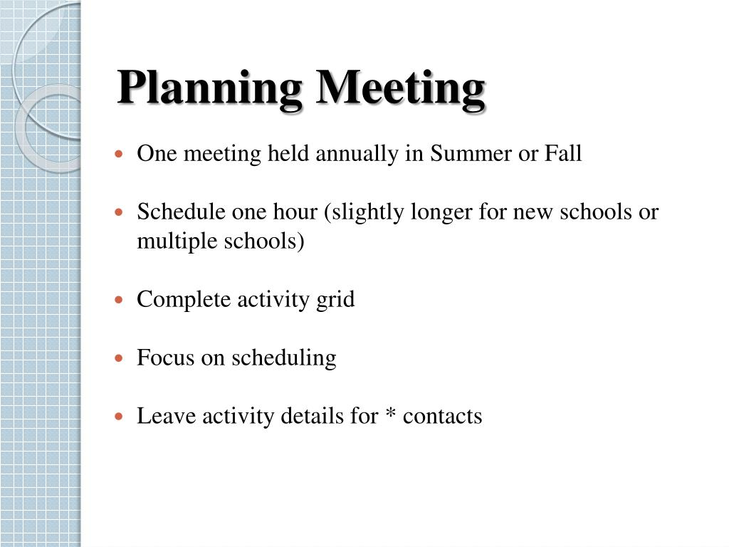 Planning Meeting