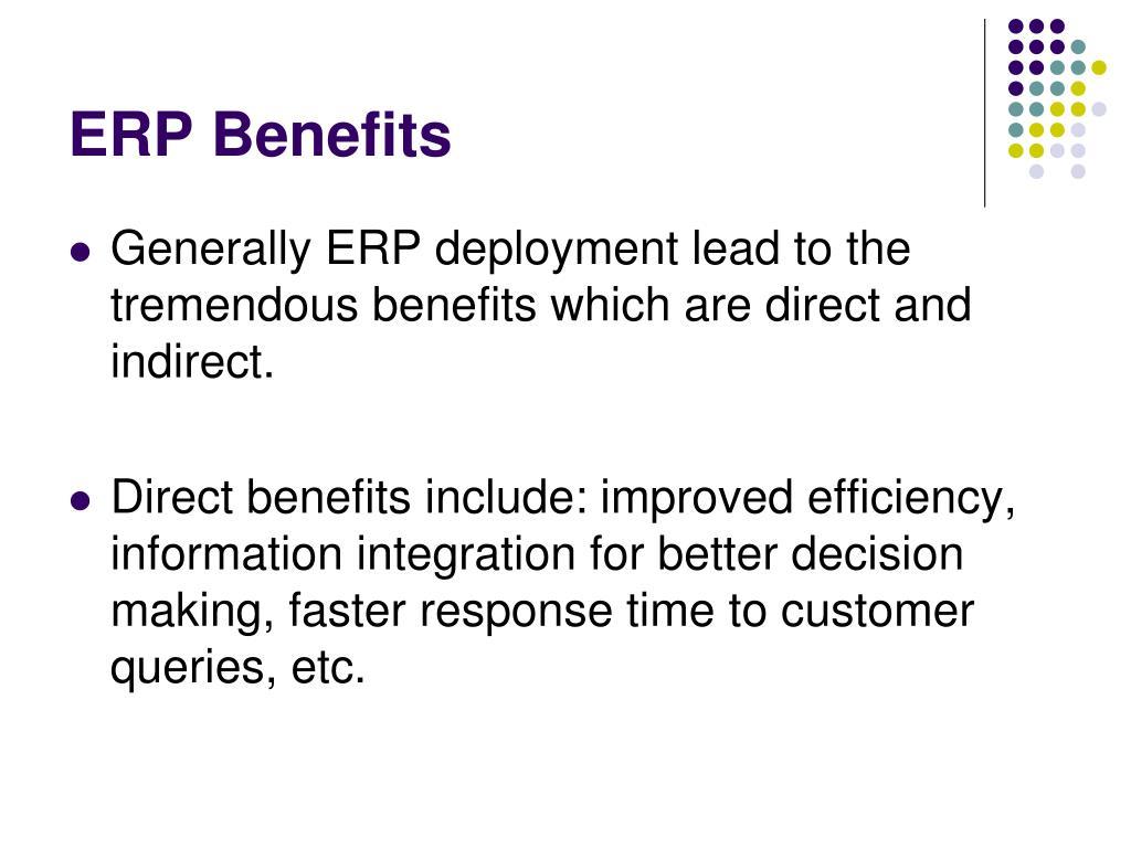 ERP Benefits