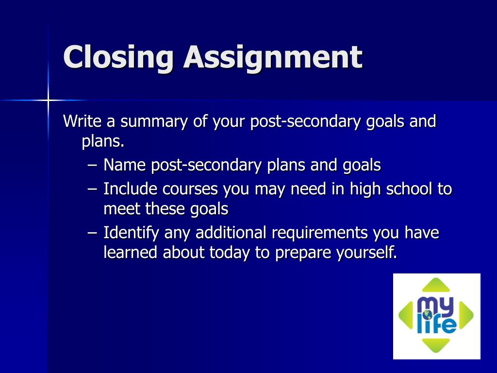 Closing Assignment