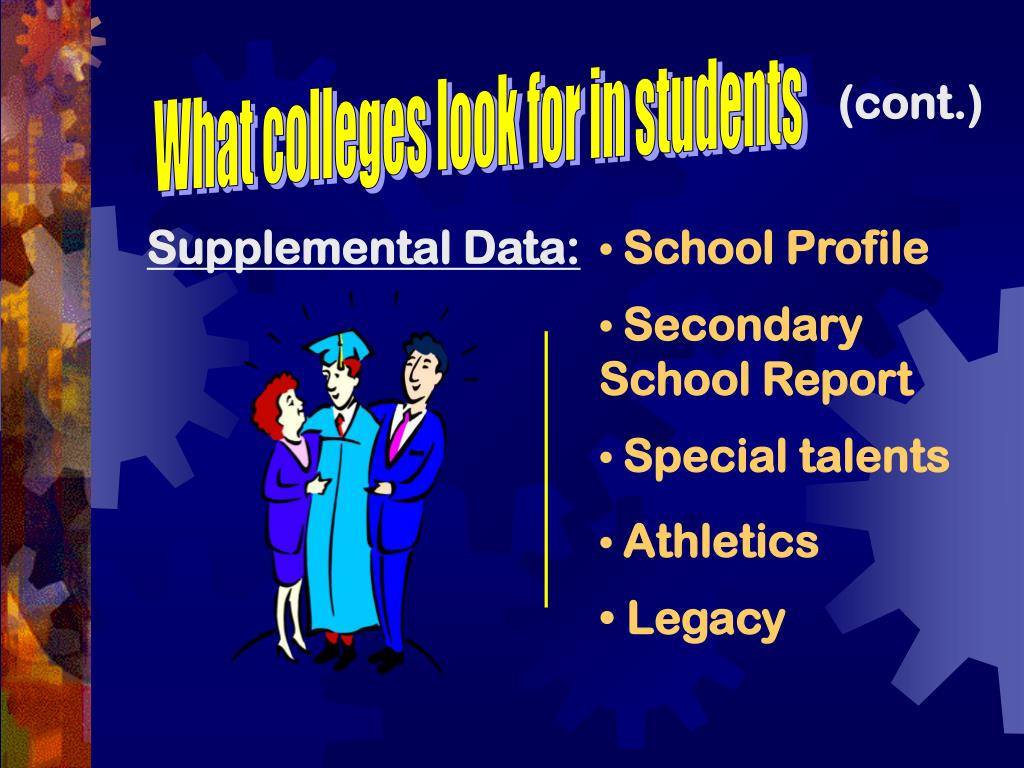 What colleges look for in students