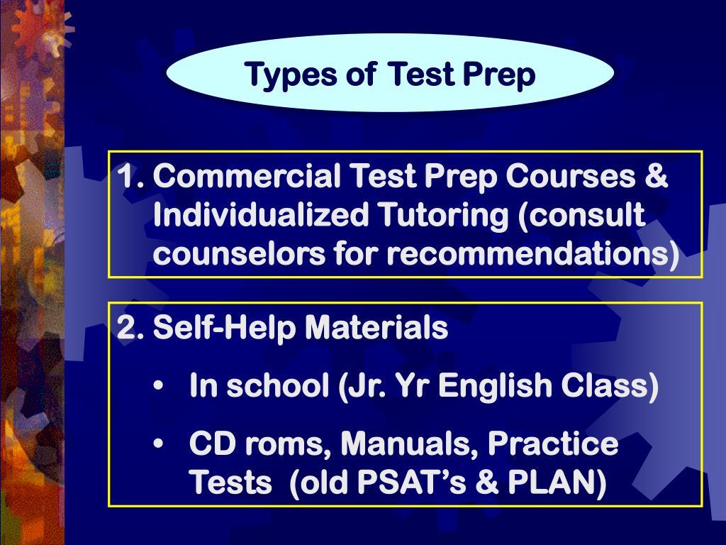 Types of Test Prep
