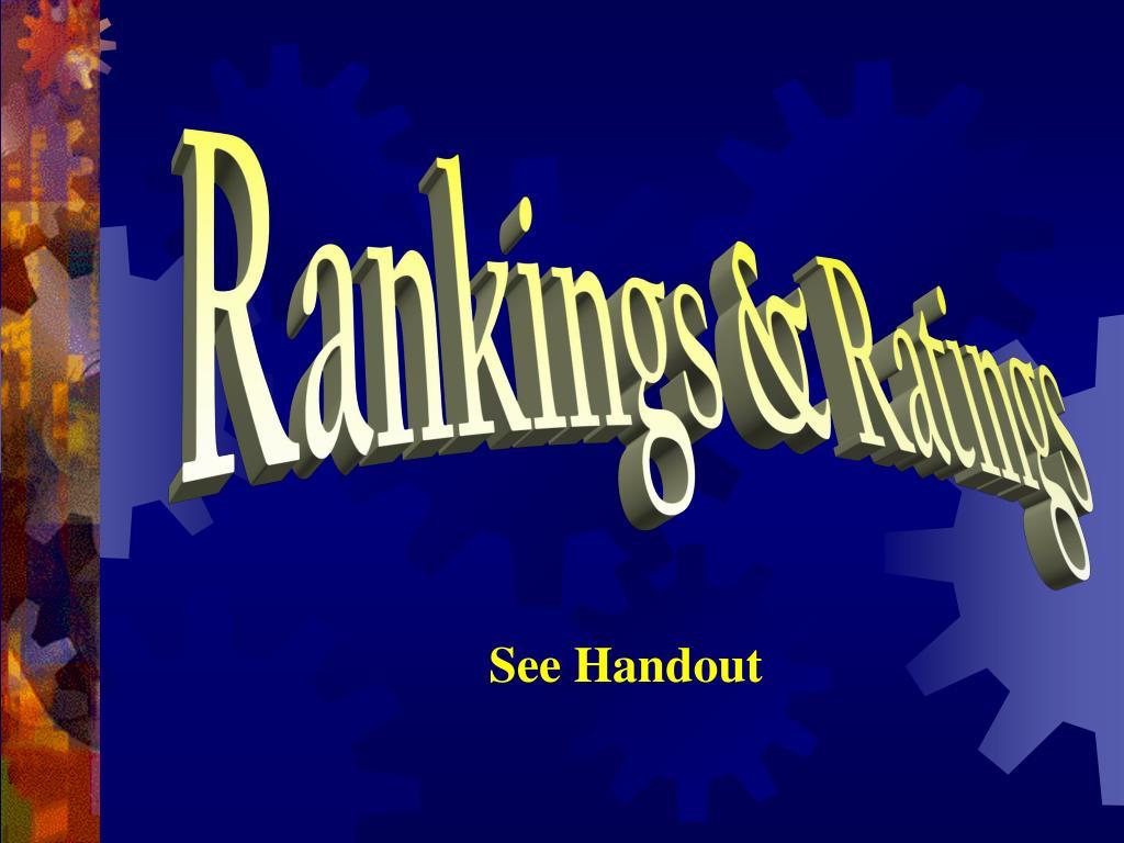 Rankings & Ratings