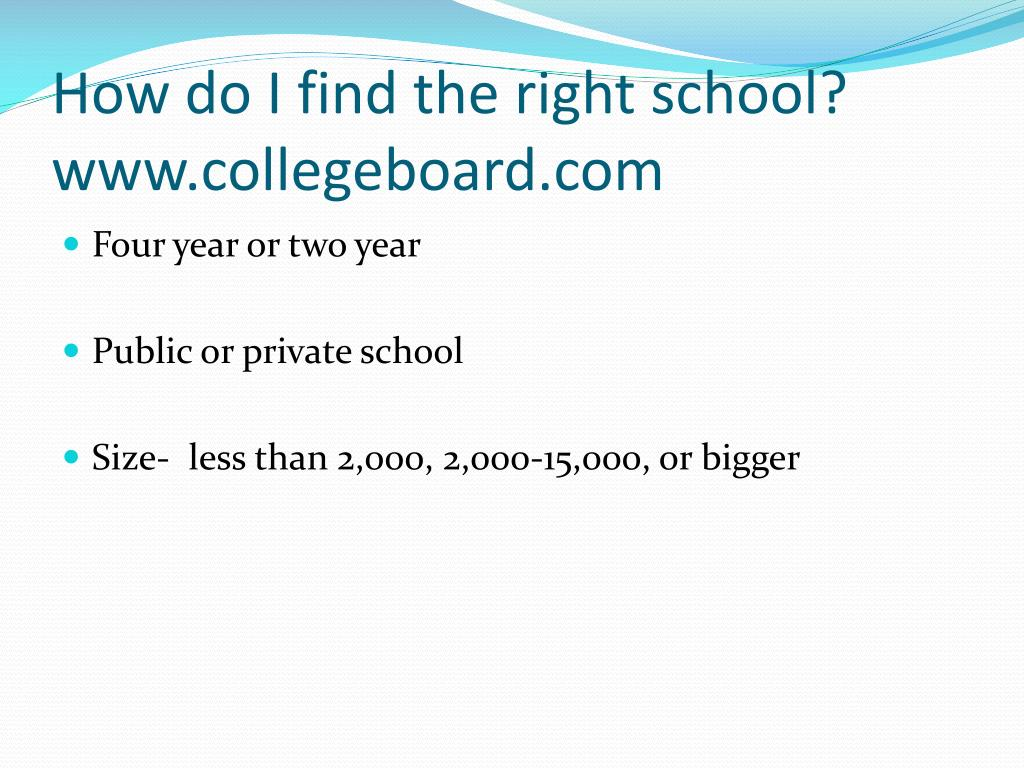 How do I find the right school?