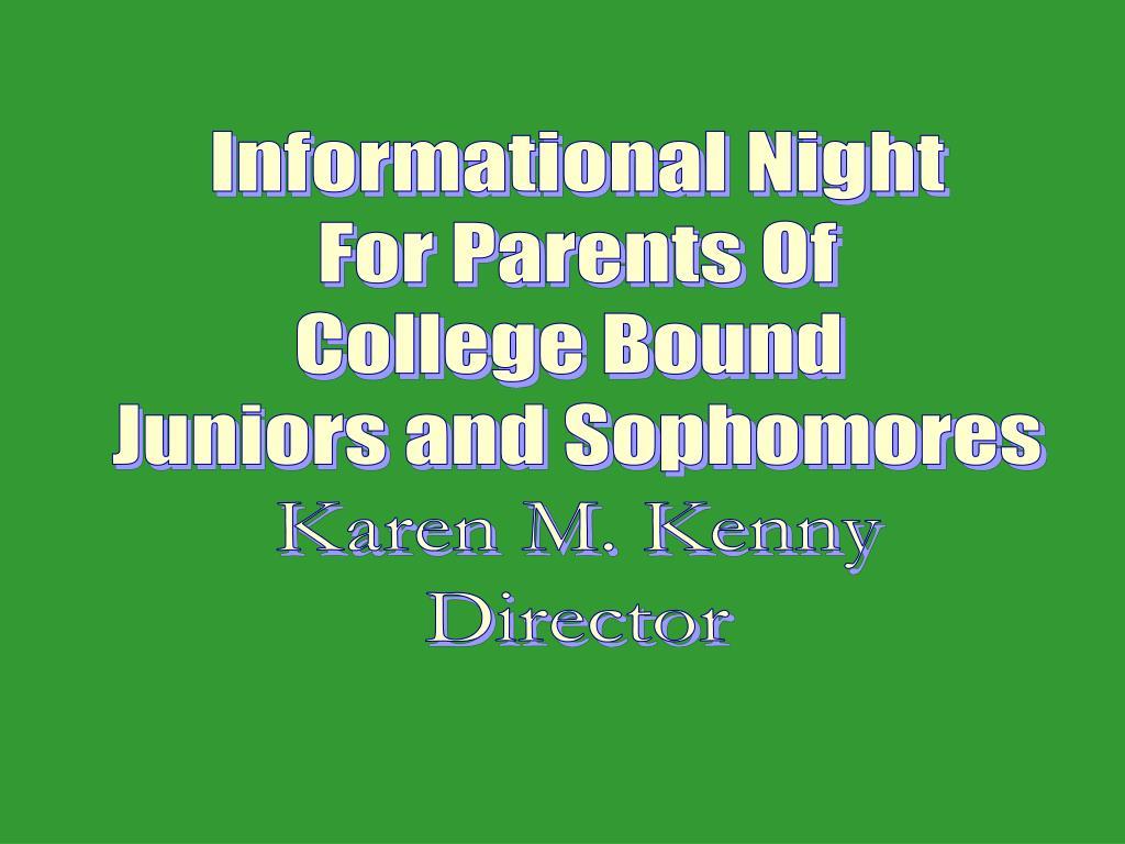 Informational Night