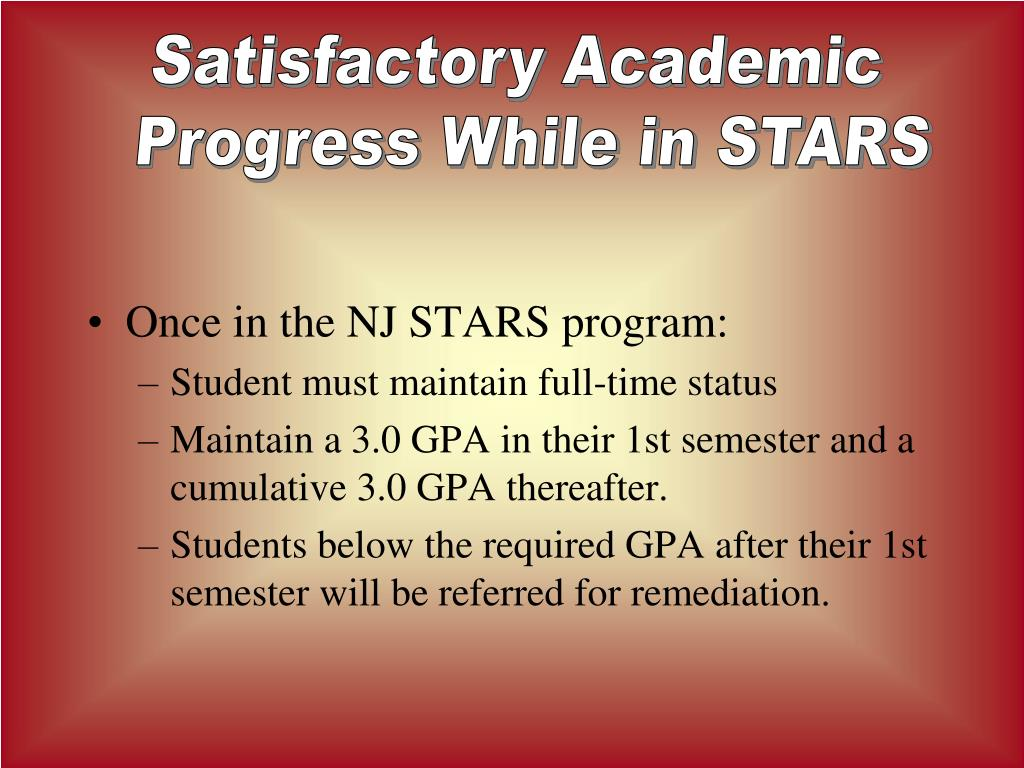Satisfactory Academic