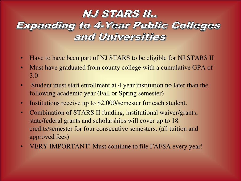 NJ STARS II..