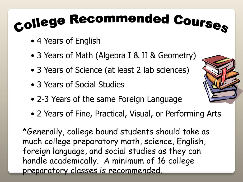 College Recommended Courses