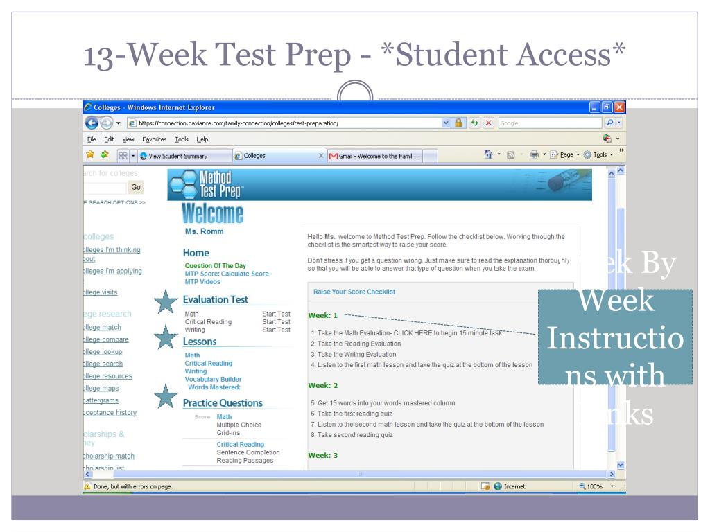 13-Week Test Prep - *Student Access*