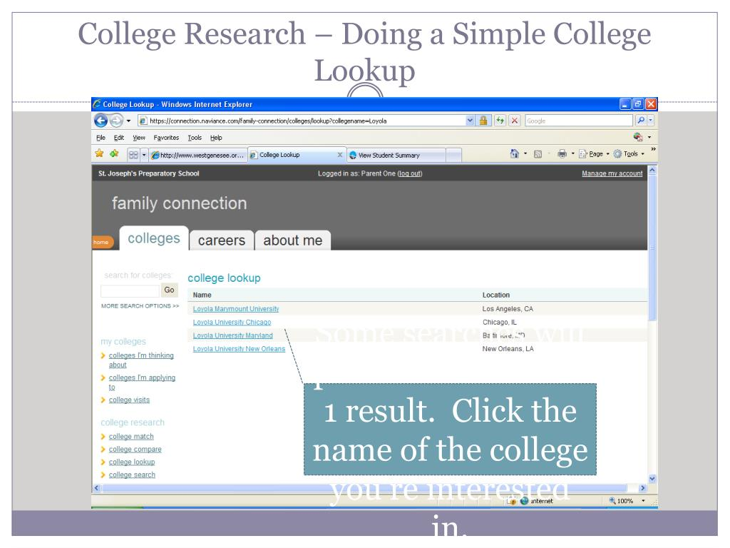 College Research – Doing a Simple College Lookup
