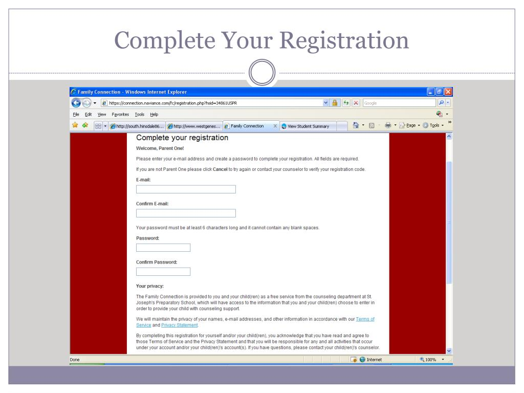 Complete Your Registration