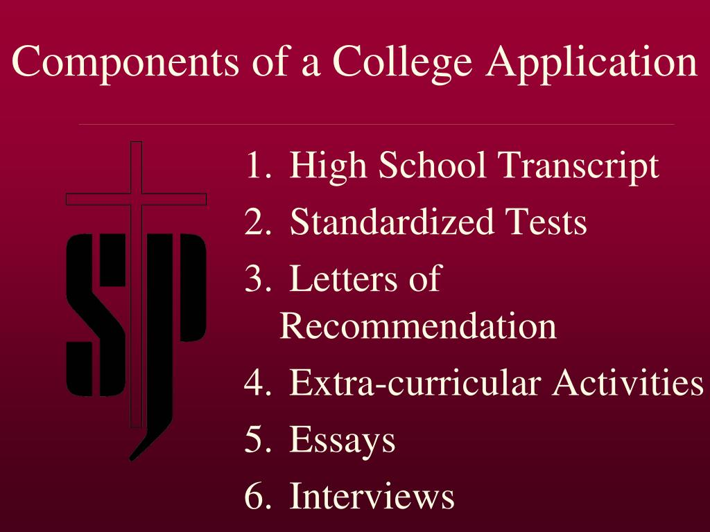 Components of a College Application