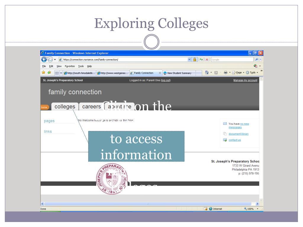 Exploring Colleges