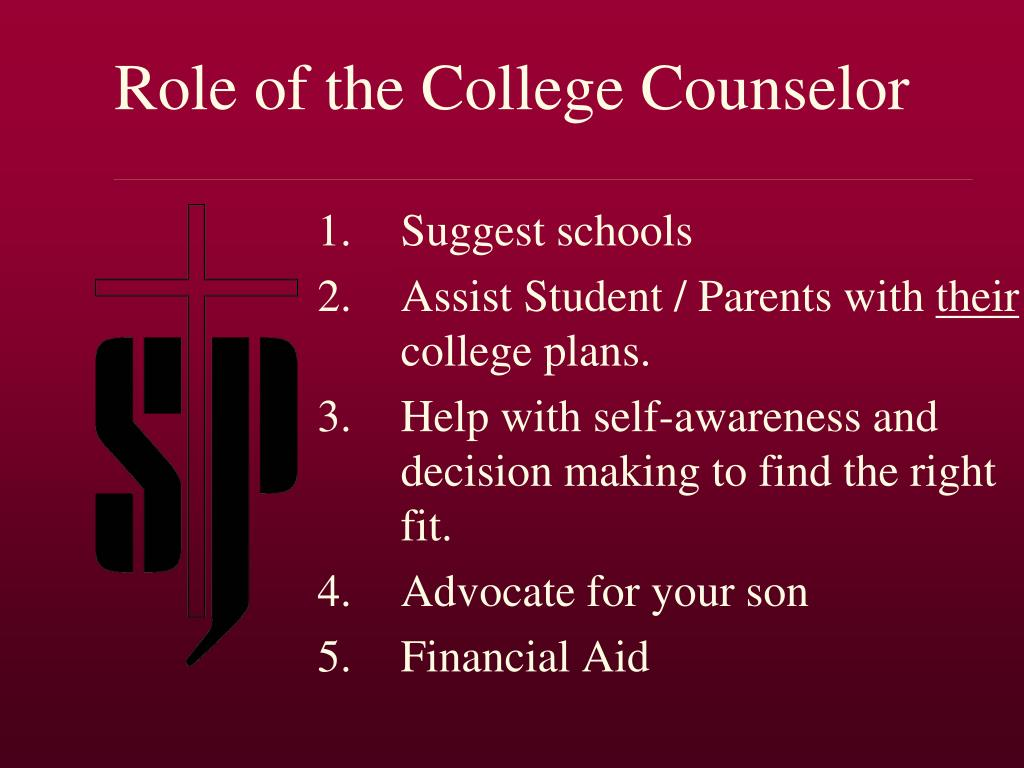 Role of the College Counselor
