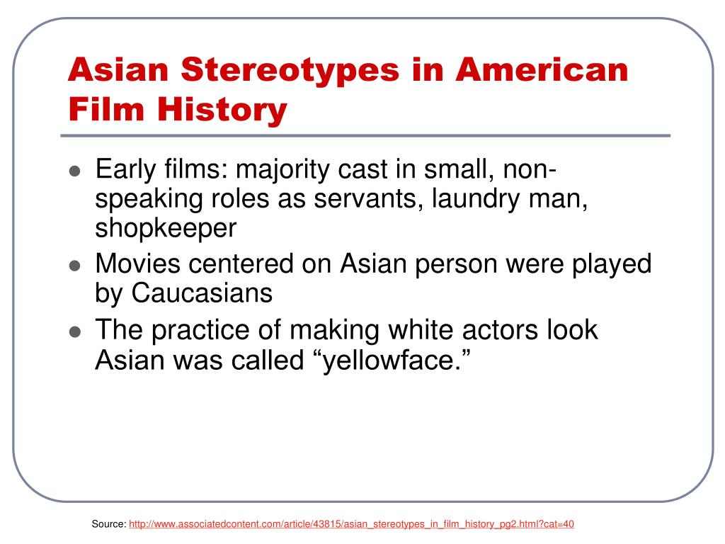 Asian Stereotypes in American Film History