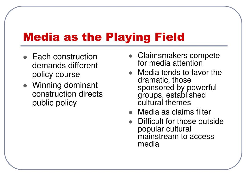 Media as the Playing Field