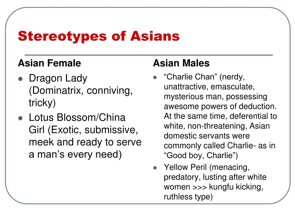 Stereotypes of Asians