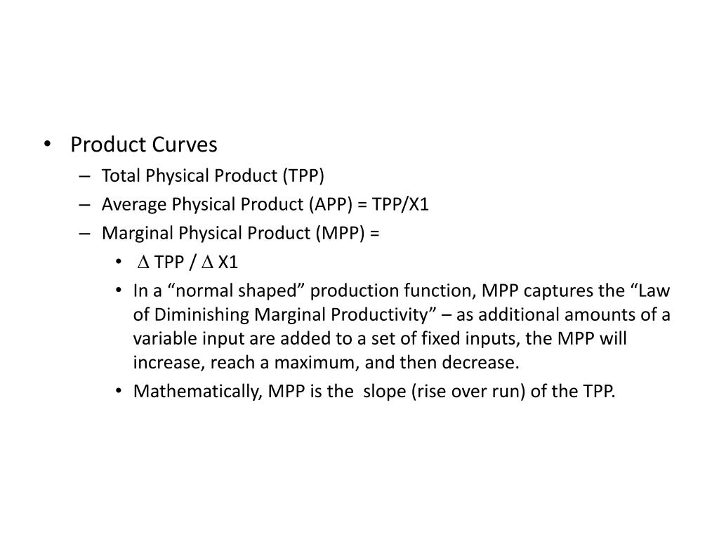 Product Curves