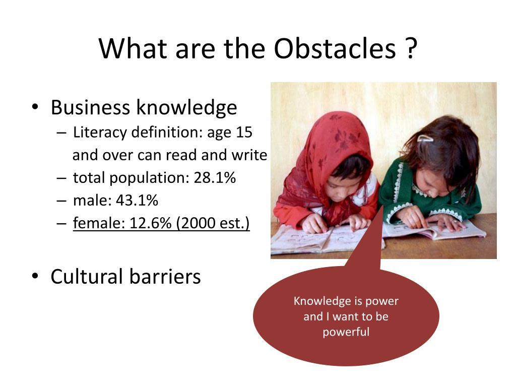 What are the Obstacles ?