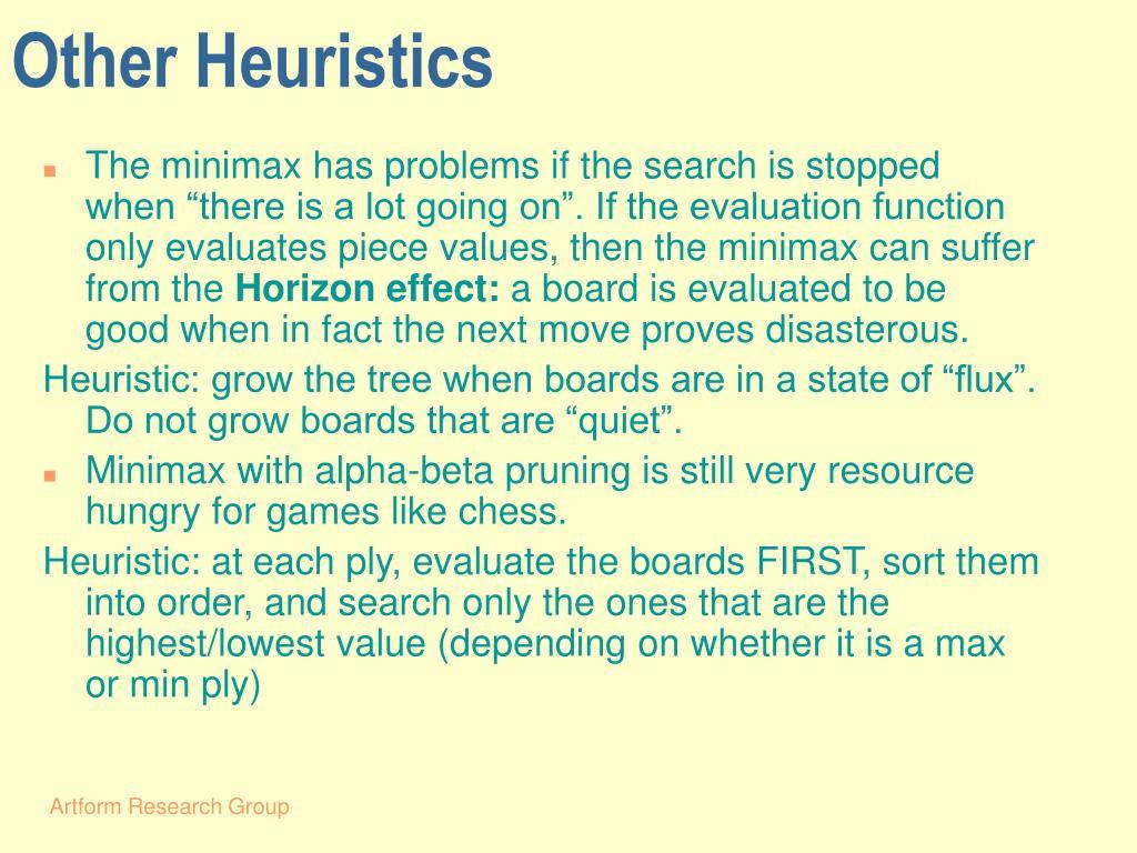 Other Heuristics