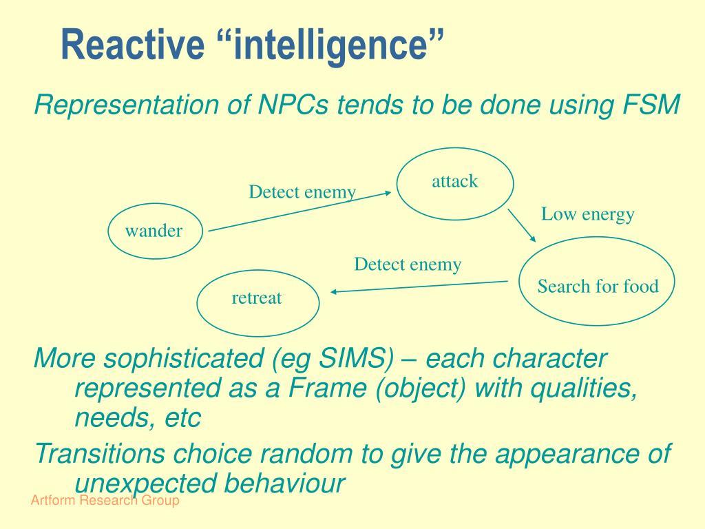 "Reactive ""intelligence"""