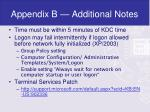 appendix b additional notes