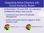 integrating active directory with oxford kerberos realm13