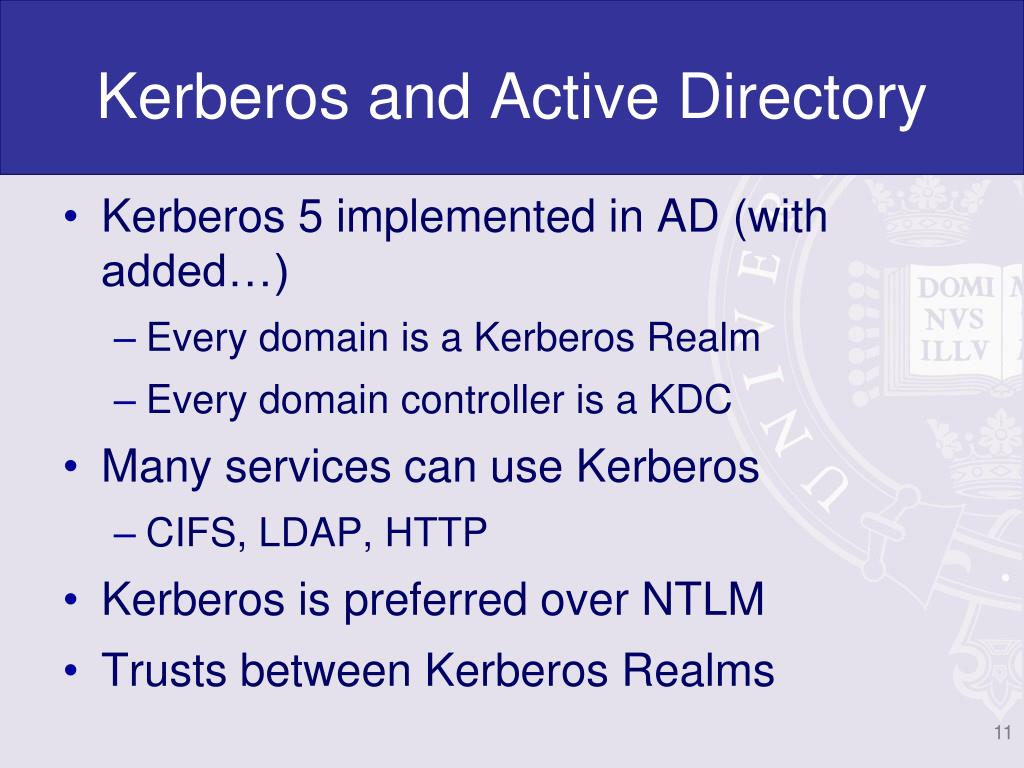 Kerberos and Active Directory