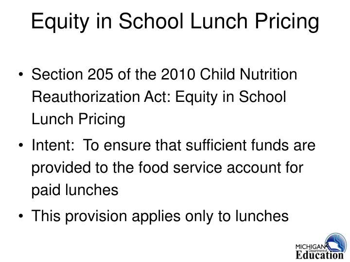 Equity in school lunch pricing l.jpg