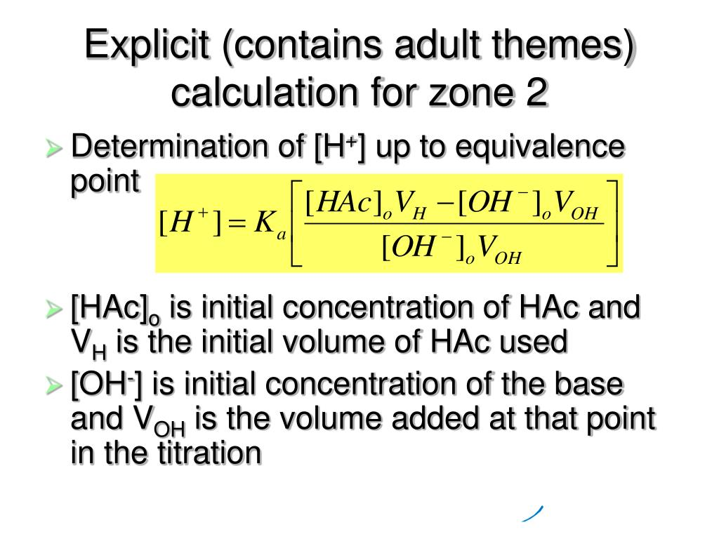 Explicit (contains adult themes) calculation for zone 2