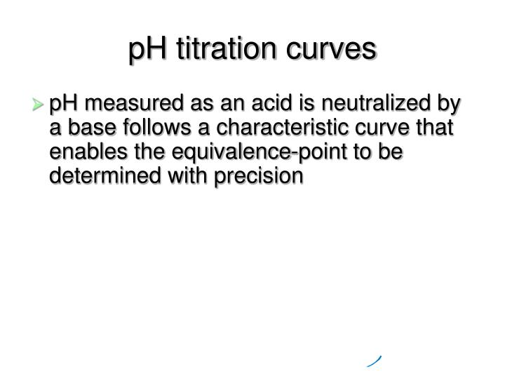 Ph titration curves