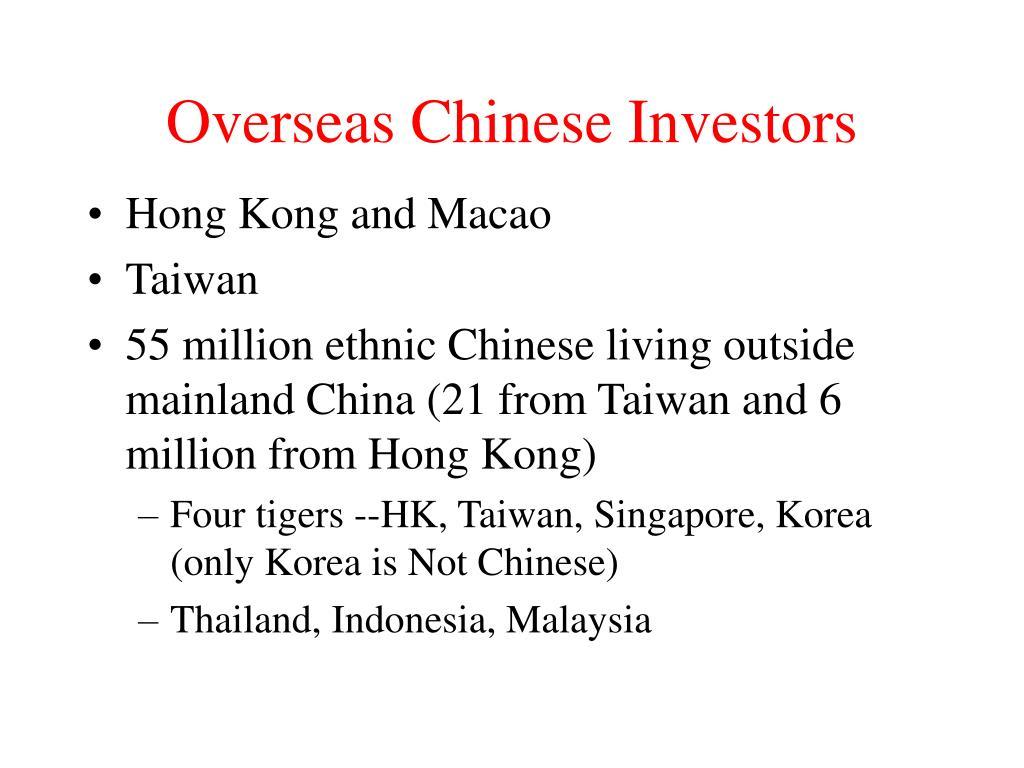 Overseas Chinese Investors