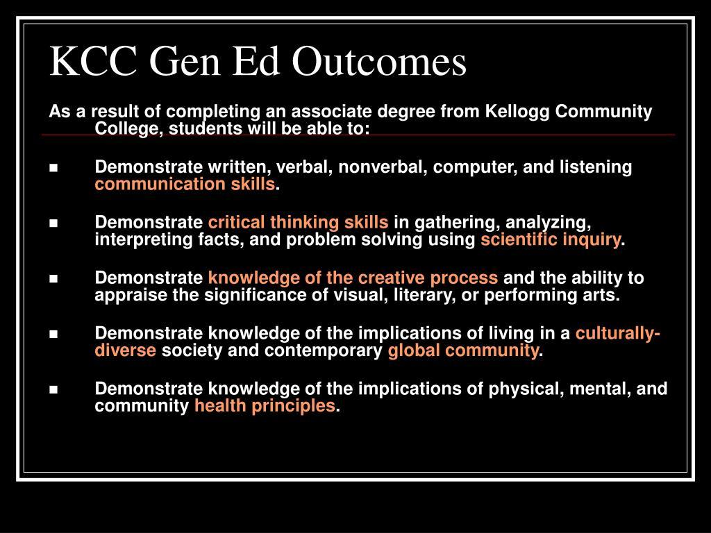 KCC Gen Ed Outcomes