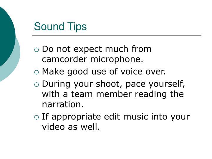 Sound Tips