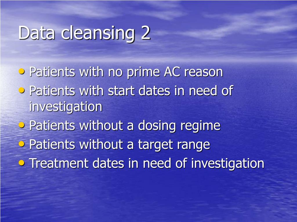 Data cleansing 2
