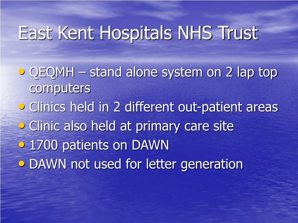 East Kent Hospitals NHS Trust